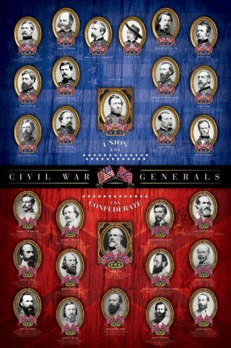 Civil War Generals Poster