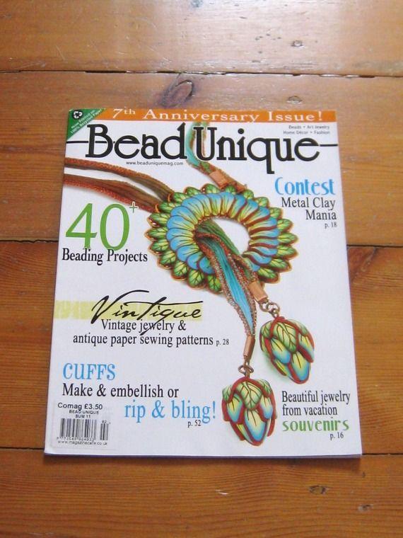 Magazine BEAD UNIQUE  d'importation tutoriel perles fimo clay création bijoux  inclus 40 projets