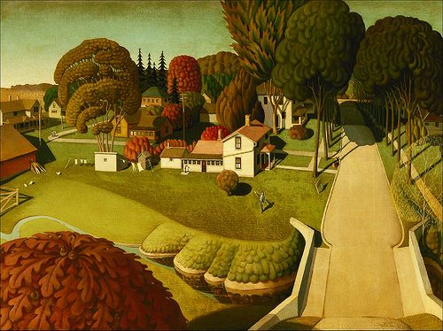 "Grant Wood's ""Birthplace of Herbert Hoover"" (LivingHome Wall Decor from Kim Garretson, via Flickr)"