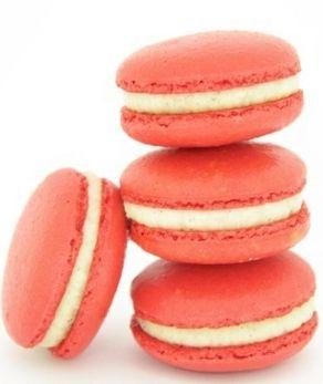 Zumbo's Strawberry & Vanilla Ganache Macarons