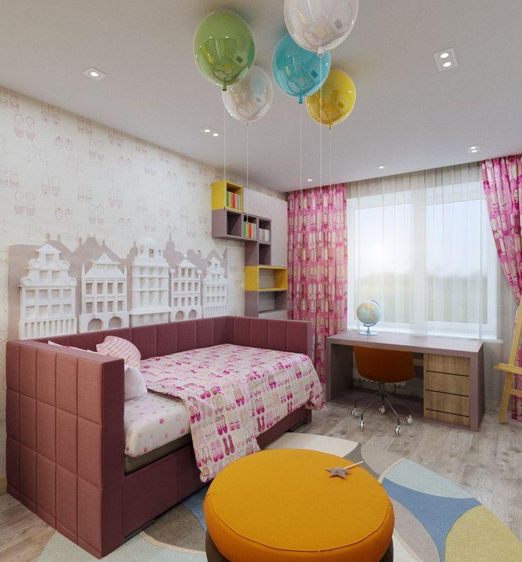 Комната для ребенка. Оформление детской комнаты. Дизайн детской для девочки. Интерьер. Детская. The teenage girl's room. Bedroom for girl.