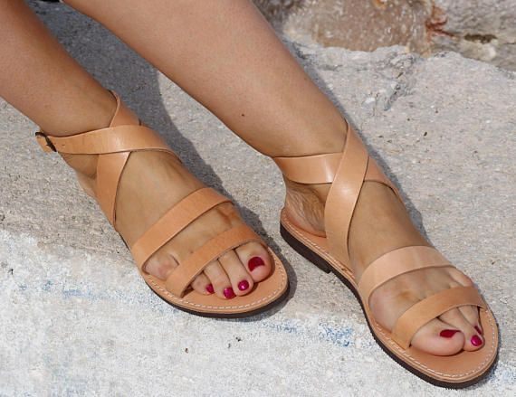 Gladiator Leather Sandals Full Grain Leather Women Sandals