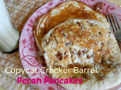 The Better Baker: Copycat Cracker Barrel Pecan Pancakes