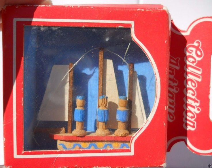 "Bodo Hennig Toy Sailboat Rare Vintage Hard To Find Dollhouse w/box 2"" Item 992 | eBay"