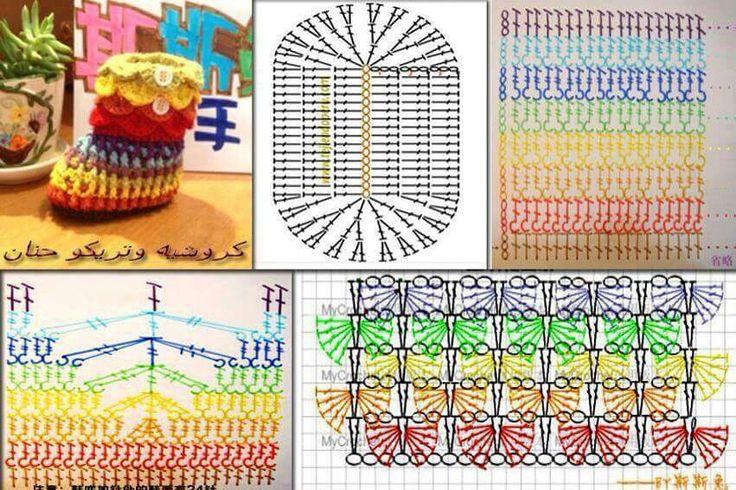 168 besten Crochet Shoes Bilder auf Pinterest | Fußbekleidung, Baby ...