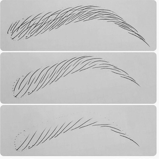 Permanent Sketch Book: Eyebrow Hair Strokes With New Finish Ink....practice Makes