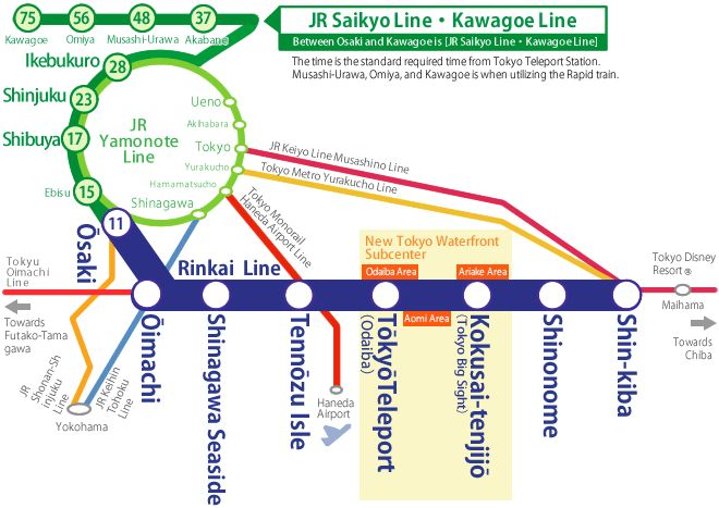 Station / Route Map   Rinkai Line