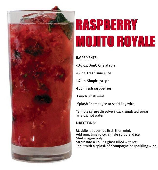Raspberry Mojito Royale