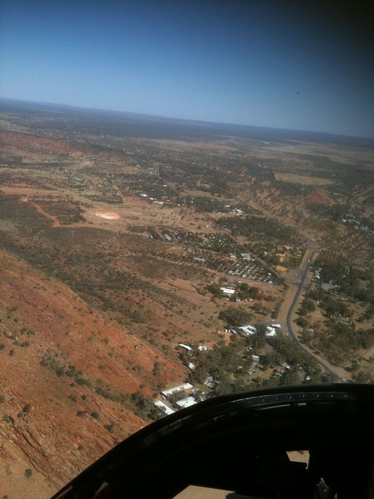 Helicopter ride over Alice Springs, Australia - September  2014