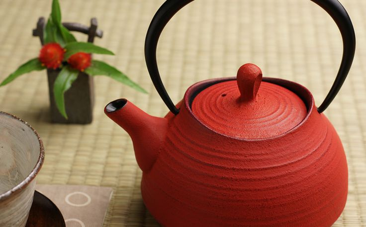 Nanbu Tetsubin ITCHU-DO Japanese Iron Kettle Neo Traditional Teapot Tea Red | eBay