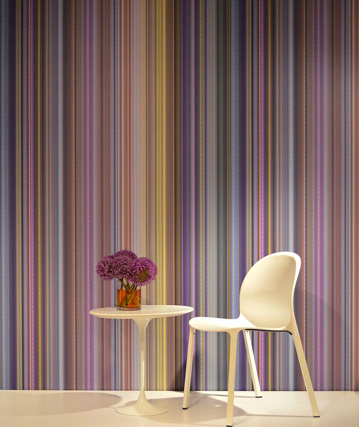 A Four Color Printing Technique Is Used To Create This Large Scale Vertical  Striped Wallcovering. The Clarity Of Color Seen Here Is Unique For A  Classic ...