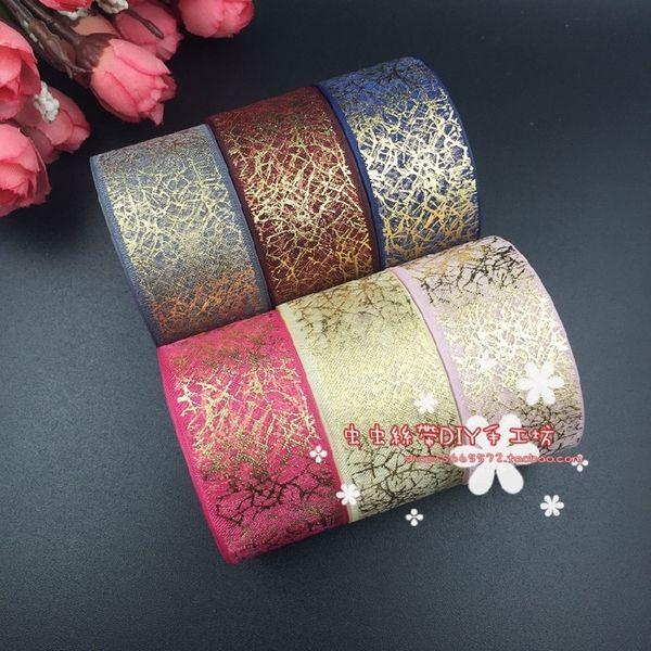 25мм бронзируя Shadai золотой цвет ленты снег Shadai DIY ювелирные изделия волос ювелирные изделия ручной работы аксессуары материал