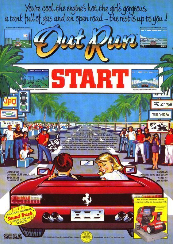 OutRun (Sega) poster