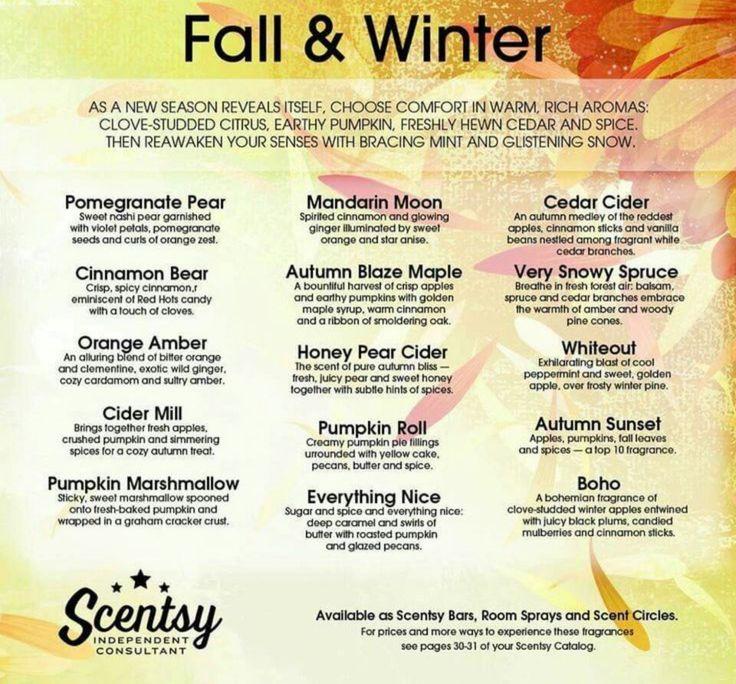 Scentsy Bars Fall 2015
