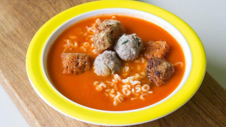 Tomatensoep met zes groenten en balletjes | VTM Koken