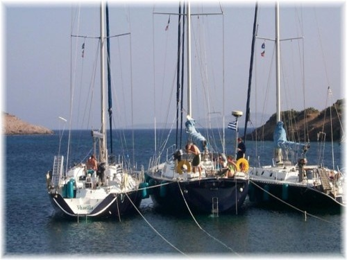 Our SeaScape boats in Marathi, Greece