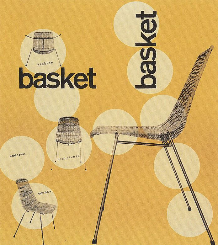 Basket chair poster by Max Huber | via Veerle blog 3.0