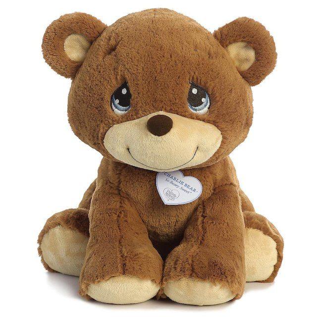 Precious Moments 15 Inch Charlie Bear Plush Brown Toys R Us Bear Stuffed Animal Bear Plush Toy Sewing Stuffed Animals