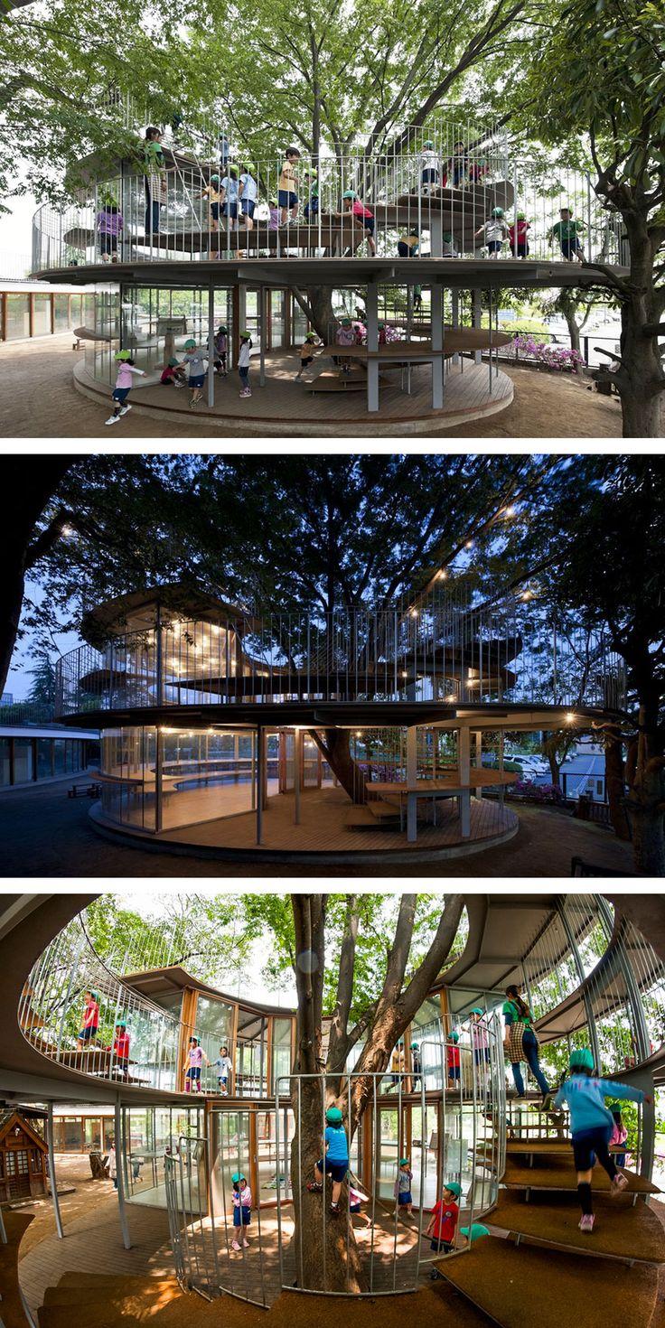 1. jardim de infância em torno da árvore