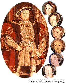 Henry VIII and his 6 wives... Catherine of Aragon (1509-1533) Anne Boleyn (1533-1536) Jane Seymour (1536-1537) Anne of Clèves (1540) Katherine Howard (1540-1542) Katherine Parr (1543-1547)