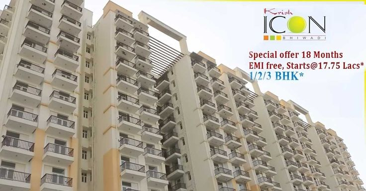 Krish Group offers you Krish Icon in Bhiwadi with 1/2/3 BHK luxury apartments with Floor sizes from 555-1210 Sq.ft having all modern amenities