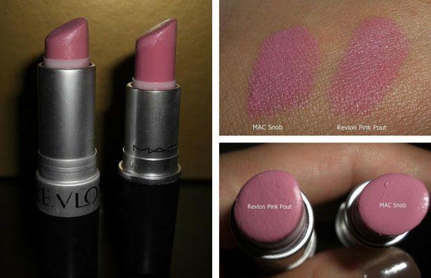 MAC Snob Dupe   Revlon 'Pink Pout'