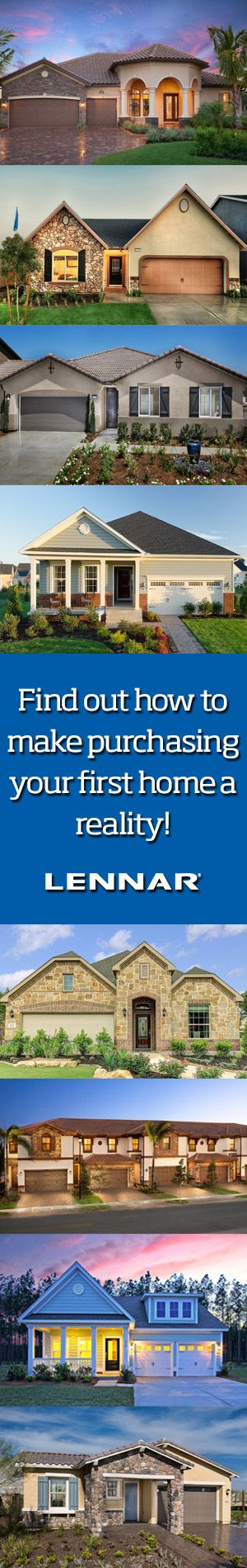 Buying a first home is a momentous event everyone should experience. Better still, with Lennar, the home buying process has never been simpler. So stop hunting and find your dream home today.