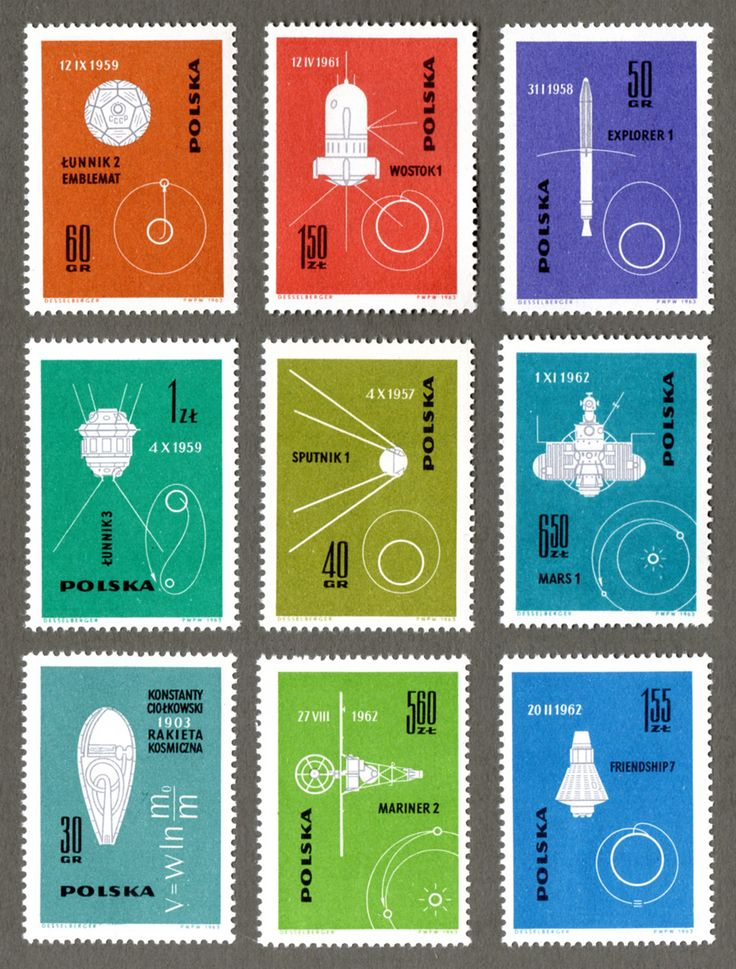Space Stamps, Poland 1963