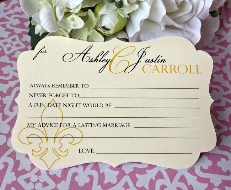 Best Wedding Advice Cards Ideas On Pinterest Bridal Shower