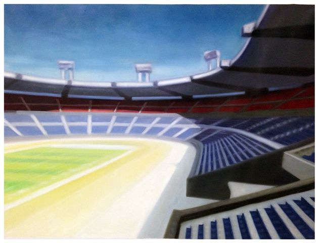 Shelter Serra, Stadium, 2014 at www.meadcarney.com   #ShelterSerra #MeadCarney #London #art #artgallery #stadium