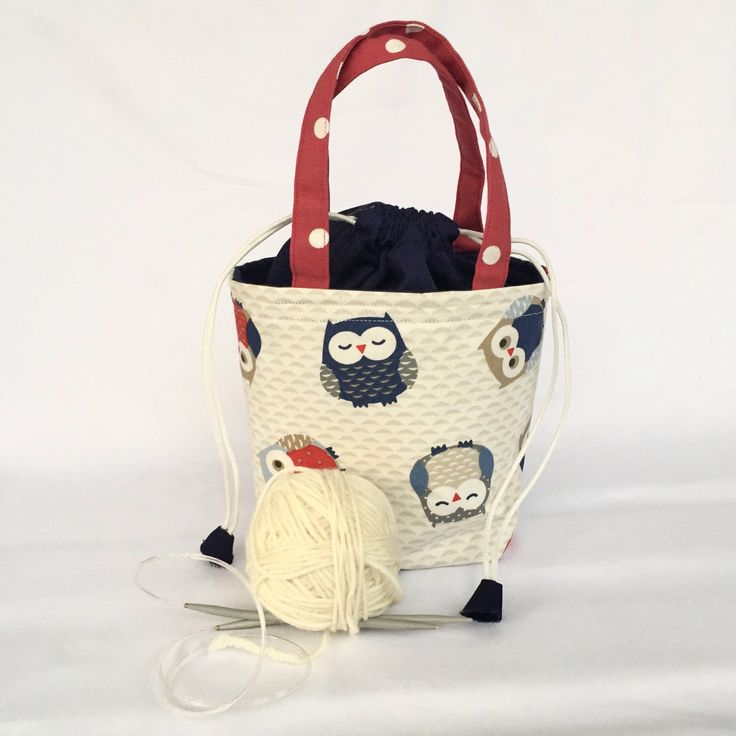 A beautiful owl print craft bag, knitting project bag, birds bag, cosmetic bag, storage bag, sock knitting bag,draw string bag, crochet bag, project bag, personal favourite from my Etsy shop https://www.etsy.com/uk/listing/548237002/small-project-bag-craft-bag-knitting