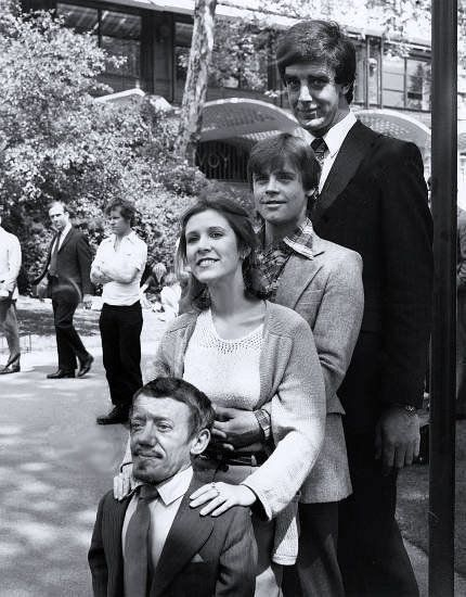Kenny Baker, Carrie Fisher, Mark Hamill and Peter Mayhew!