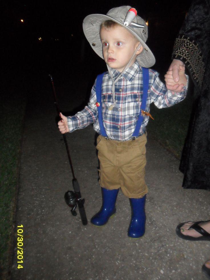 DIY toddler fisherman costume