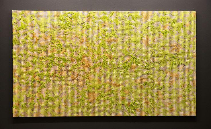 Ng Joon Kiat, 'Lit Cities', Acrylic on Cloth, 150 x 260 cm, 2013