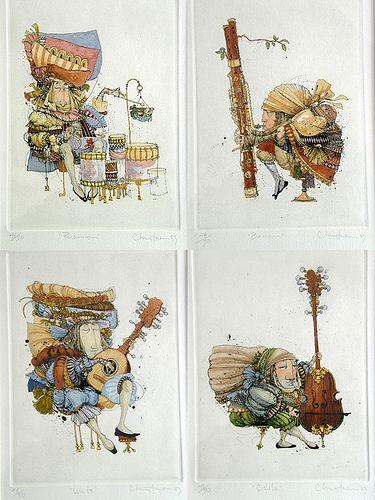 James Christensen - Four Musicians