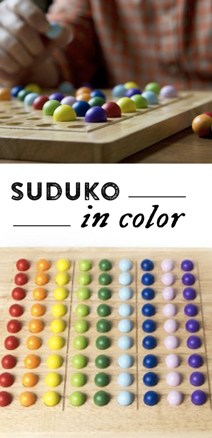 ColorKu is the popular game of Suduko in color. A solid wooden platform with 81 marbles in 9 colors, featuring 104 puzzle cards.