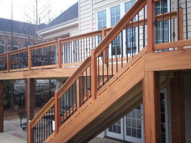 metal handrails for deck stairs. deck railing with metal balusters handrails for stairs