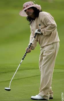 Alice Cooper golfing.