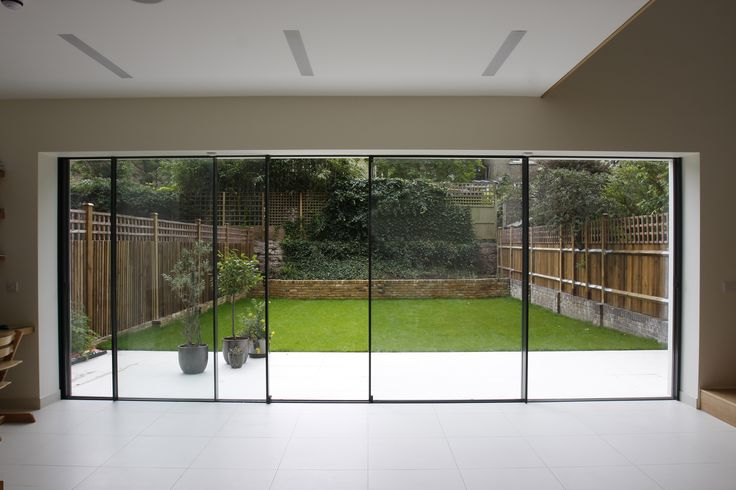 bi parting minimal windows used as modern patio doors in London