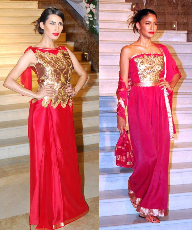 Occasion wear is more exciting to design the drape options are many. The Thai pleated skirt with fitted blouse looks unusual & easy to dance in. Jumpsuits look fabulous too. Both the ensemble's are in Amaranta Red.  Available at Deepika Govind Bangalore.  #Designerwear #PartyWear #WomensWear #Dresses #Fashion #Fashionista #Women #Luxury #CocktailWear #EveningWear