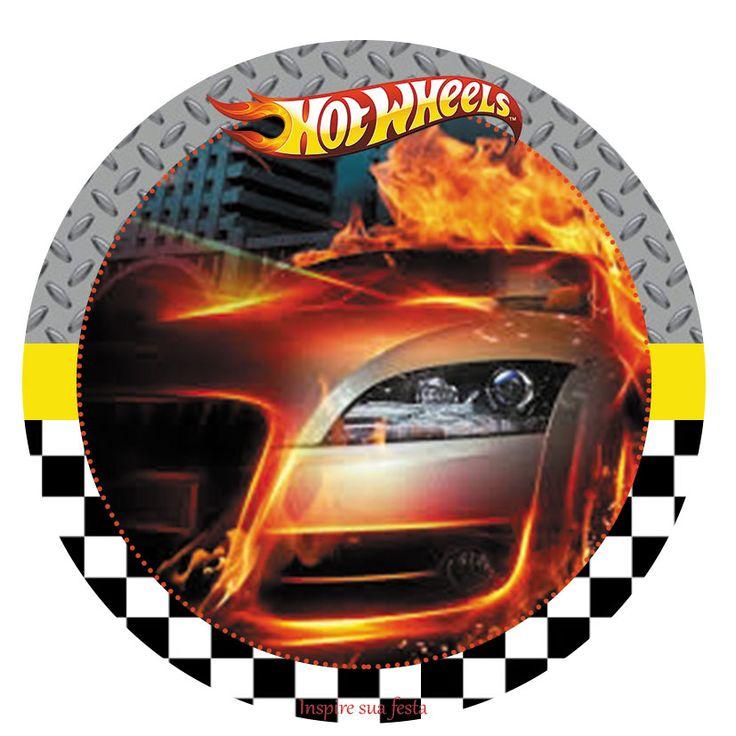 Hot Wheels Free Printable. Festa Hot Wheels para imprimir.
