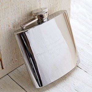 Personalised Hip Flask - best man & usher gifts