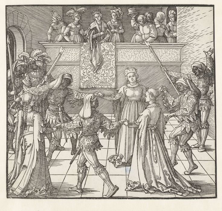 Fakkeldans, Albrecht D�rer, 1517 - 1518