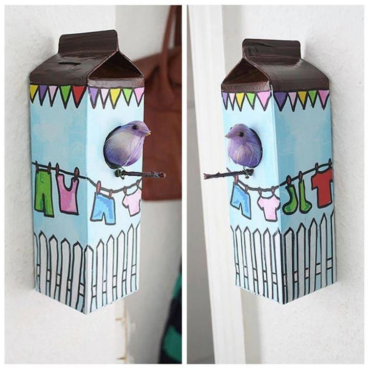 Objeto decorativo com caixa tetra park