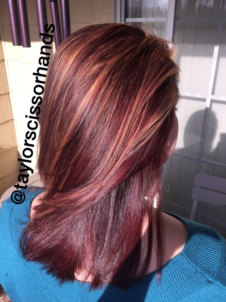 Caramel Highlights On 4rr And 4r 5vr Hair Cosmetology