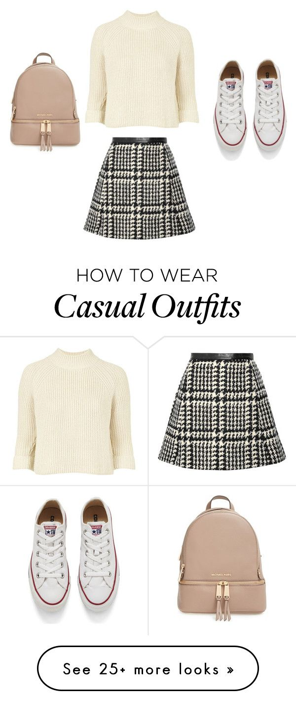 Casual by purplehoneybeefashion on Polyvore featuring Topshop, Jill Stuart, Converse, MICHAEL Michael Kors, womens clothing, women, female, woman, misses and juniors