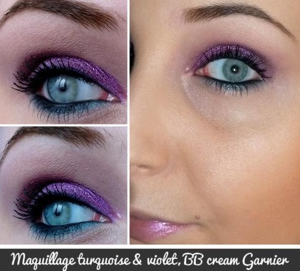 Le blog de Laura - Blog beauté 100% filles, sans langue de bois !: Turquoise, violet & nouvelle BB Cream Garnier...