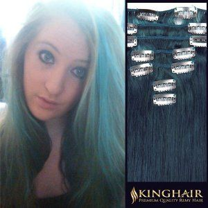 15 Inch Blue Top Quality Remy Human Clip In Hair Extensions_7 Pieces Set_Clips Attached_Full Head_70g Weight by Kinghair. $54.95. Qty:1 Full Head Set(Weight:70g). Color:Blue. Texture:Straight Remy Human HairKindly note,PO BOX shipping address undeliverable,please leave your specific address which can dicretly get to you so as to keep your package safe.. Content:One 8 inch wide wefts - 4 clips per weftTwo 6 inch wide wefts - 3 clips per weftTwo 4 inch wide wefts - 2 clips per ...