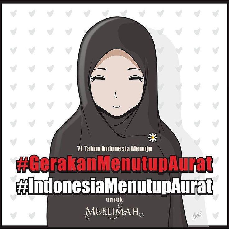 Wahai muslimah tutuplah auratmu sebelum Allah menutup usiamu. .  Totally support @indonesiamenutupaurat dan Majelis @tausiyahcinta_ .  #GerakanMenutupAurat #IndonesiaMenutupAurat #Muslimah #Hijab #Jilbab by @denbeianwar