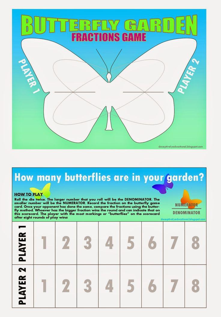 relentlessly fun deceptively educational butterfly garden a comparing fractions game after. Black Bedroom Furniture Sets. Home Design Ideas